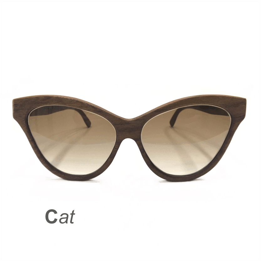 Wooden Sunglasses - Cat