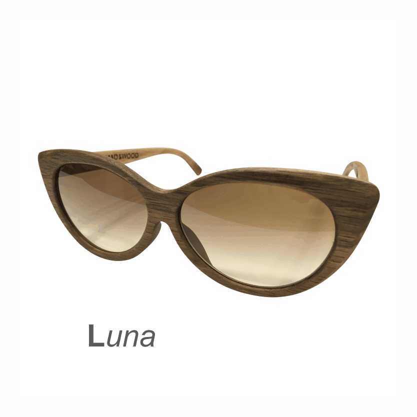Wooden Sunglasses - Luna