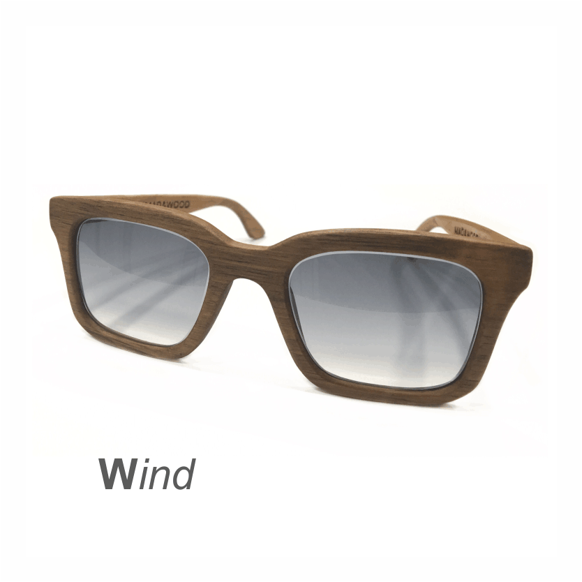 Wooden Sunglasses - Wind